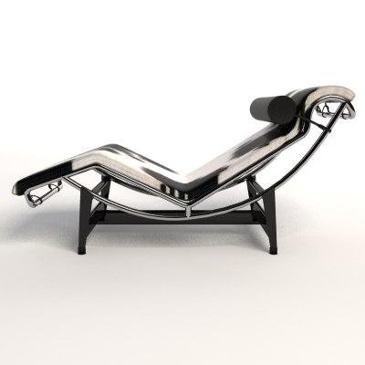 le corbusier lc4 chaise lounge 3d model