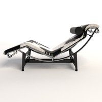 le corbusier lc4 chaise lounge 3d model