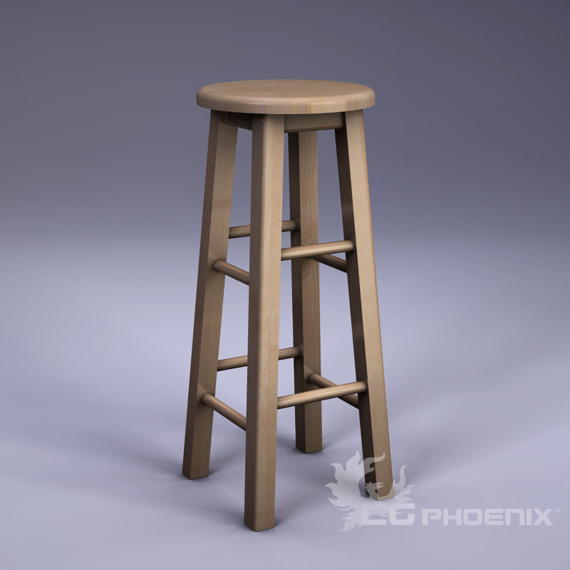 3d tall stool
