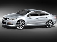 volkswagen passat cc luxury 3d model