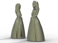 female figure 3d obj