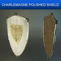 shield charlemagne polished 3d model
