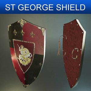 shield st george 3d model