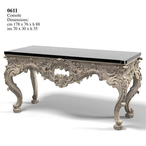 provasi console table 3d model