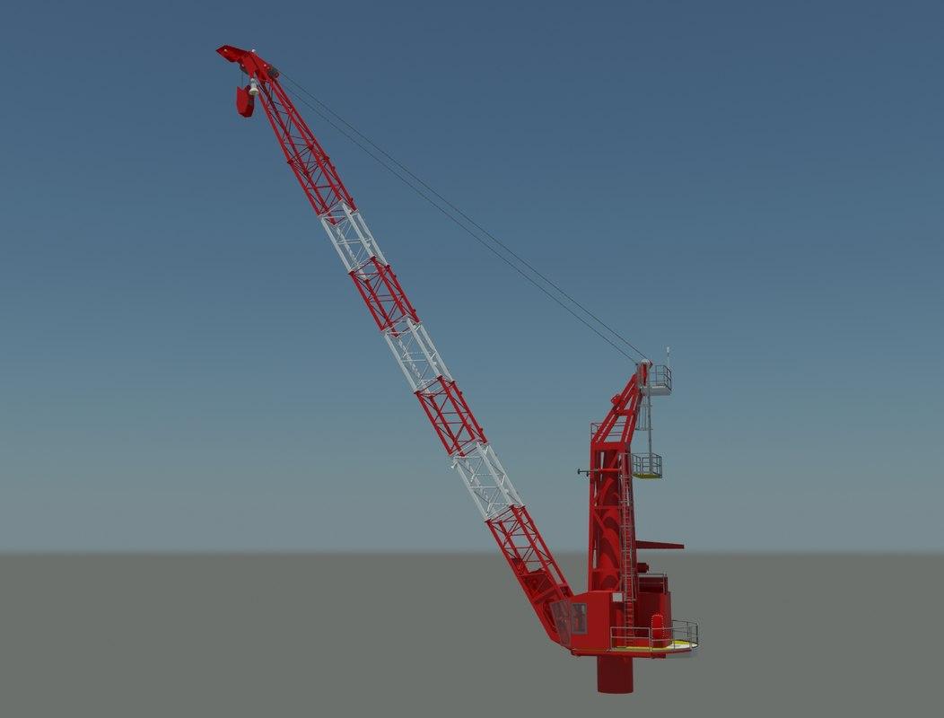 marine crane 3d model