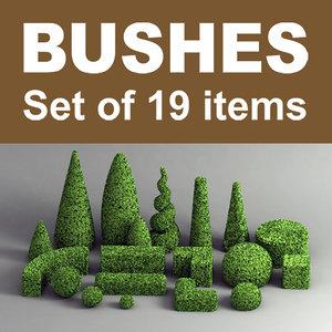 plant bushes 3d model