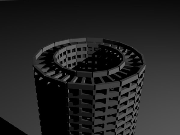 smokestack tower 3d 3ds