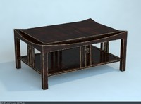 3d china table model
