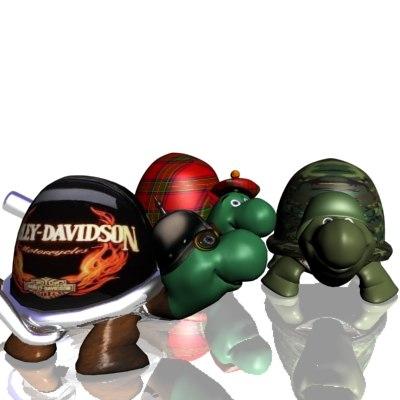 3d 3 turtles model