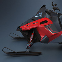 snowmobile snow mobile 3d max
