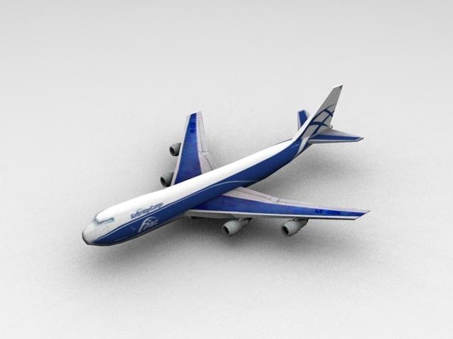 3d model boing 747