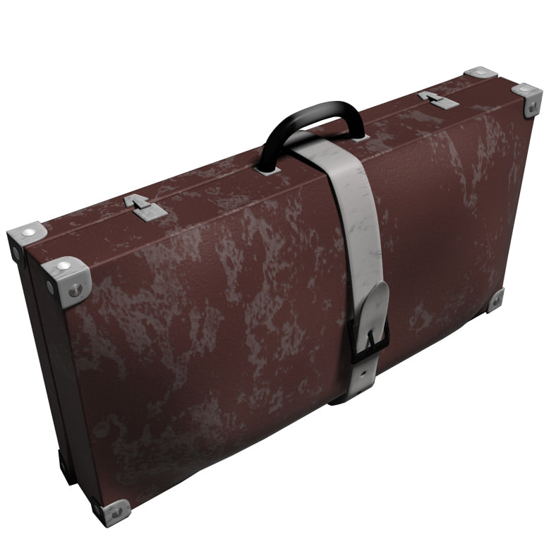 3d old used luggage model