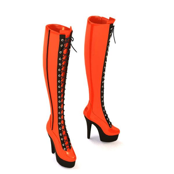 3d woman shoes model