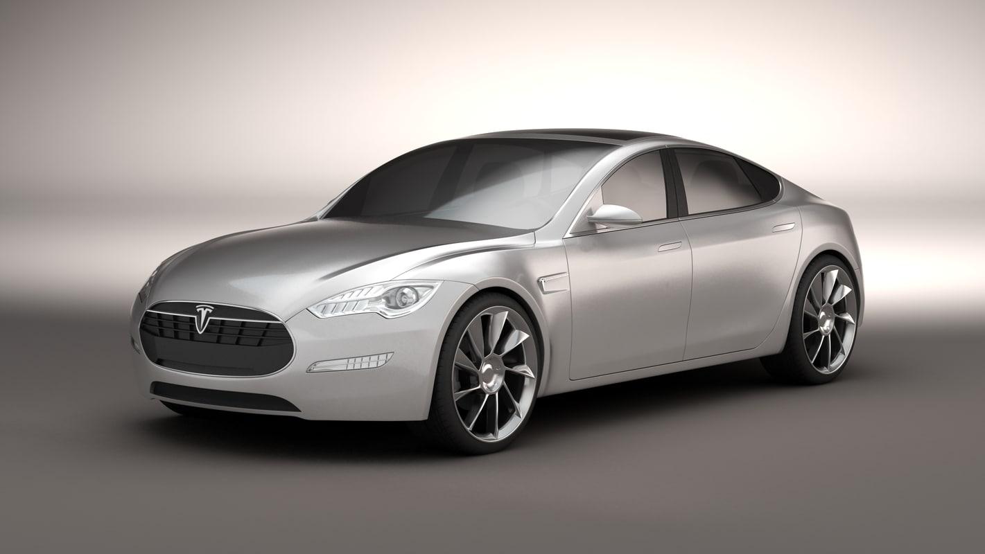 2011 tesla s modeled 3d model