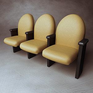 chair marquee modular - 3d model