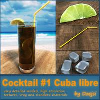 3ds max cuba libre cocktail