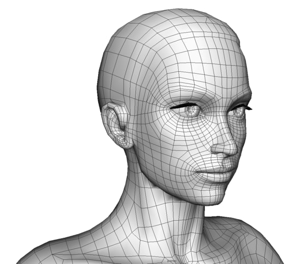 woman rigged 3d model