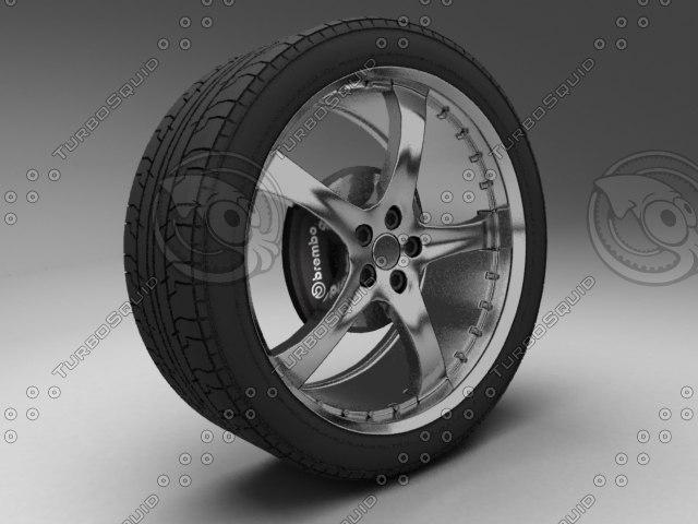 3dsmax wheel