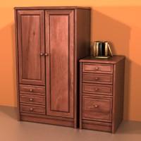 3d bedrooms model
