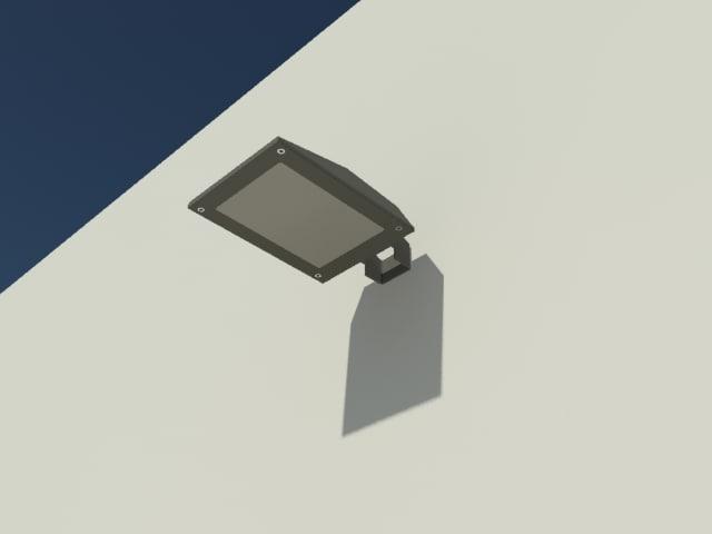 small projector lamp lighting 3d model