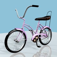 pink bicycle 3d model
