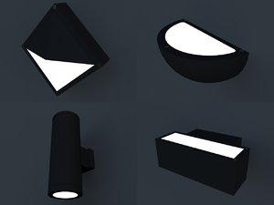 3d model lamps lighting
