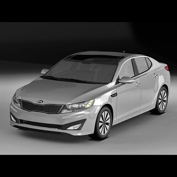 2011 kia optima 3d model