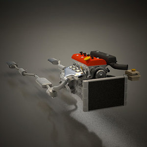 3d model of r4 engine -