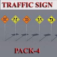 traffic sign 3d model