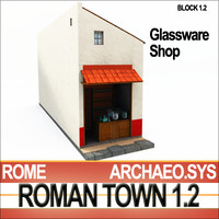 roman house glassware shop 3d obj