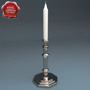 candlestick v1 3d model