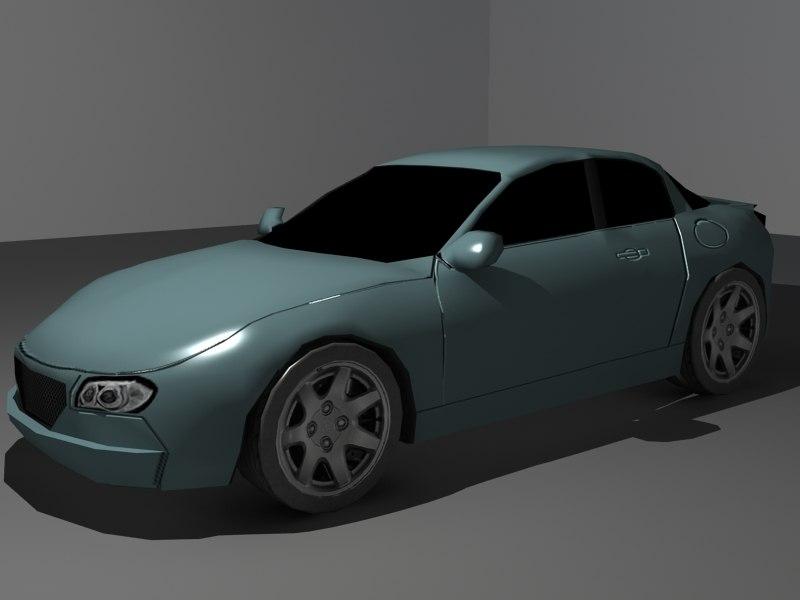 basic car 3d model