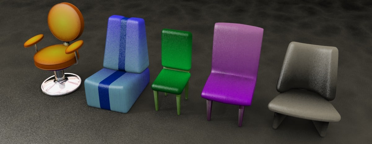 chairs office 3d model