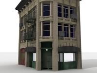 corner building 3d model