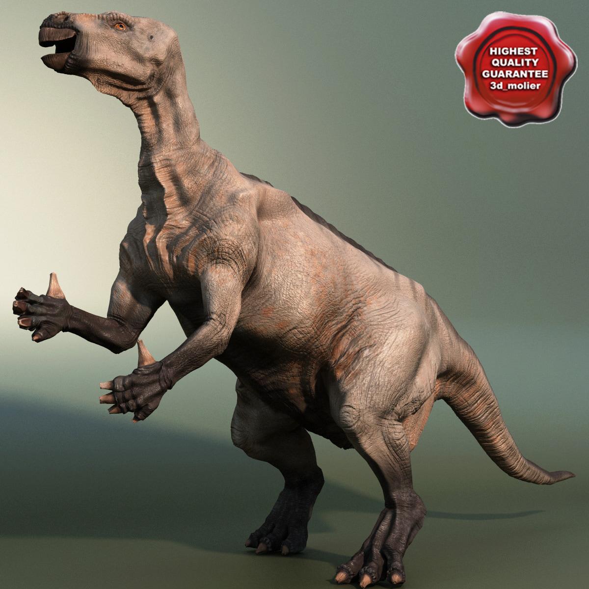 dinosaur iguanodon 3d max