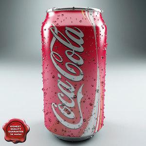 drink coca cola 0 3d model