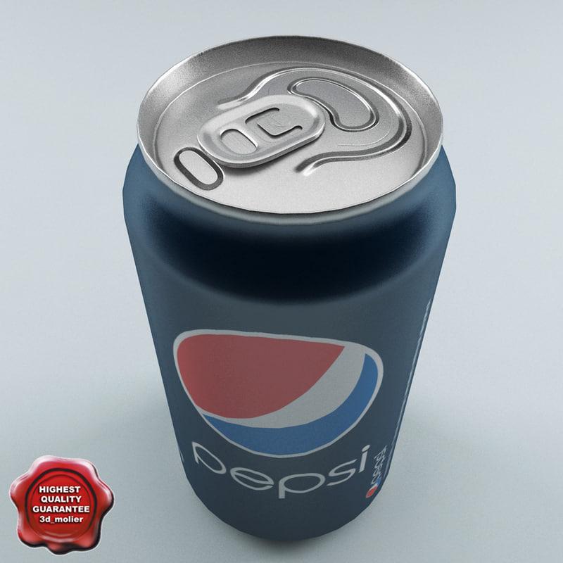 drink pepsi 0 33l 3d model