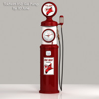 3d vintage tokheim chief gas pump