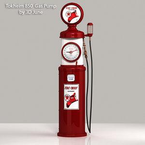 3d vintage tokheim chief gas pump