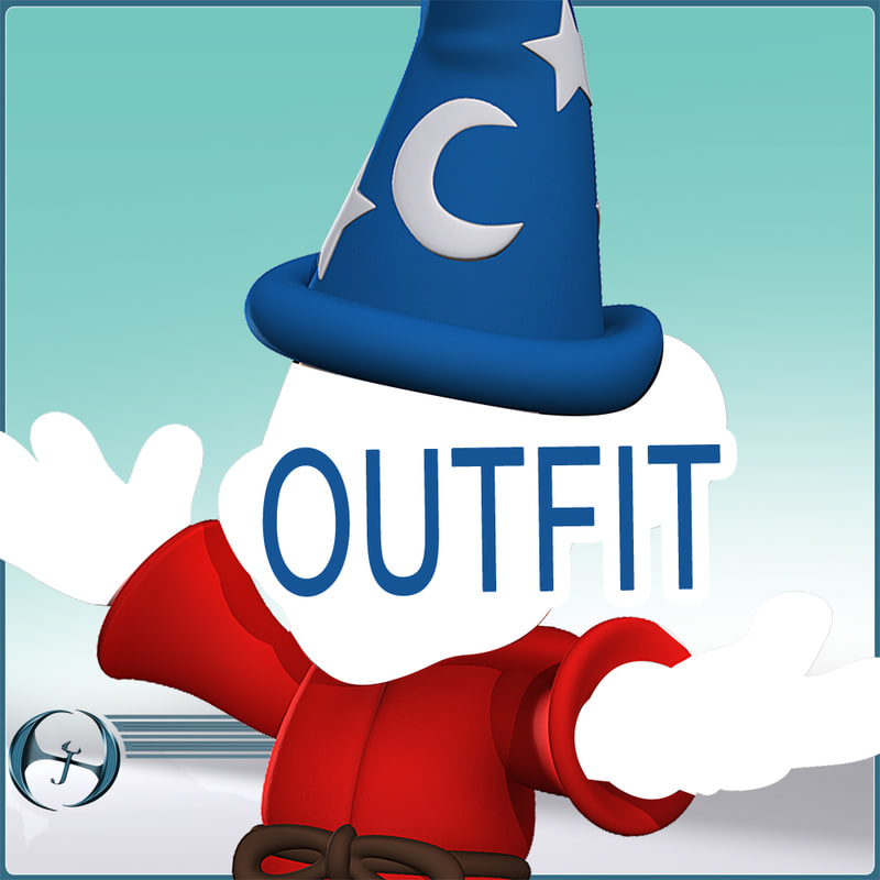 3dsmax outfit wizardly mickey s