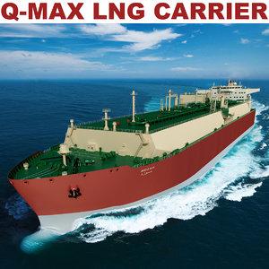 q-max carrier lng mozah 3d model