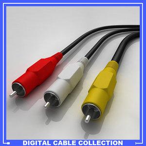 rca cable 3d model