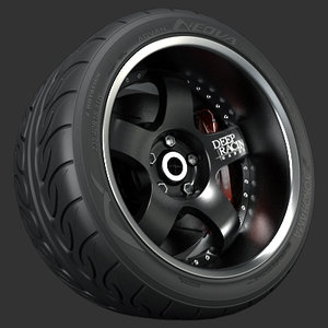 garson deep racing wheel 3d model