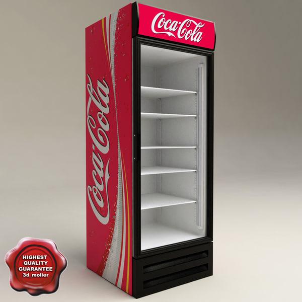 refrigerator coca cola 3d model