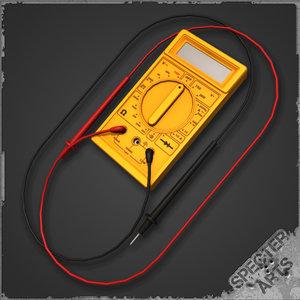 multimeter probes test 3d 3ds