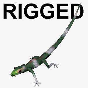 ground lizard rigged - obj