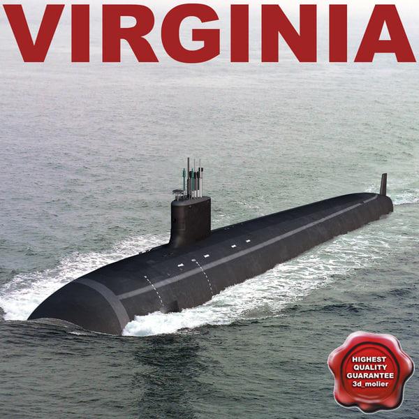 submarine virginia 3d max