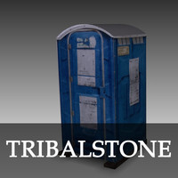 free port potty 3d model