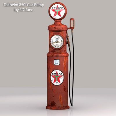 old tokheim 850 texaco 3d model