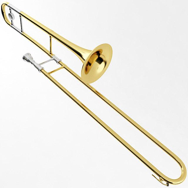 trombone instrument brass 3d model